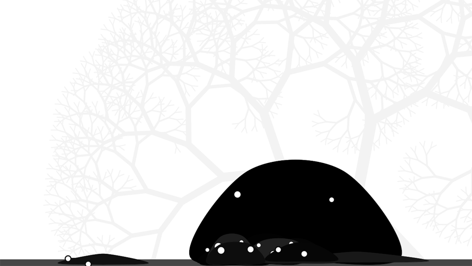 blobs in front of a tree (variation)